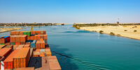Big Ship Blocks the Suez Canal