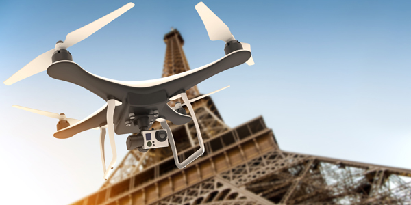 Drones cannot fly over Paris – level 1